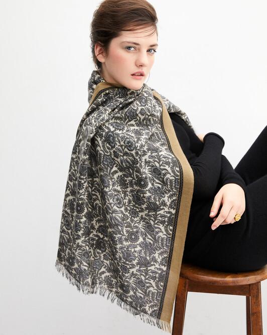 Andes print stole 180 cm x 85 cm - Zanskar