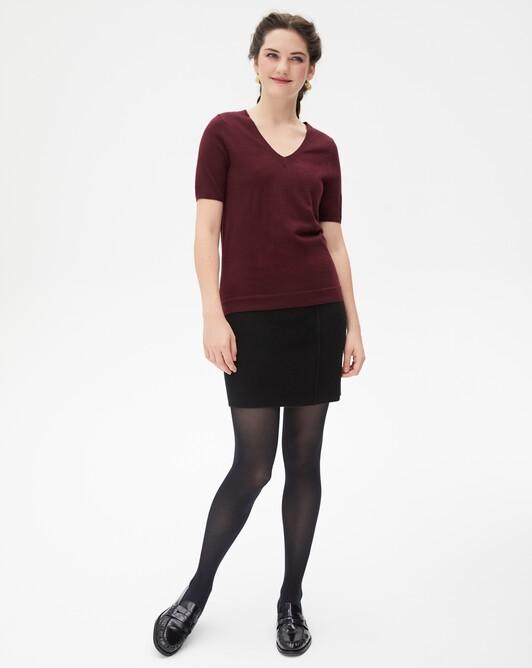 Cashmere milano short skirt - Black