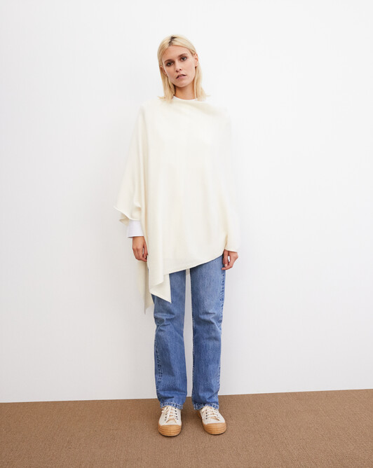 Long poncho - Naturel
