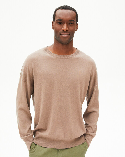 Extrafine loose crew-neck sweater - Coriander