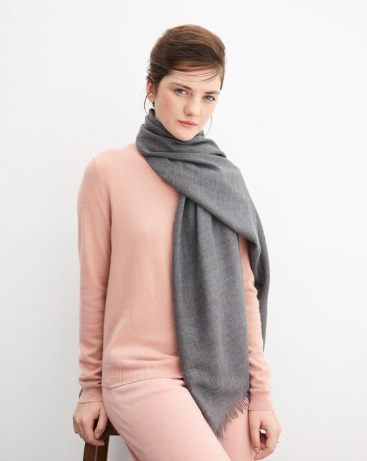 Cashmere voile stole 180 cm x 85 cm - College grey