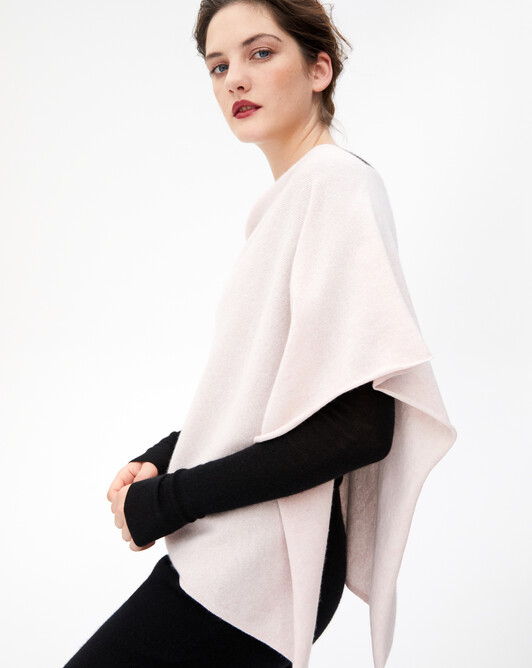 Poncho - Soft pink melange