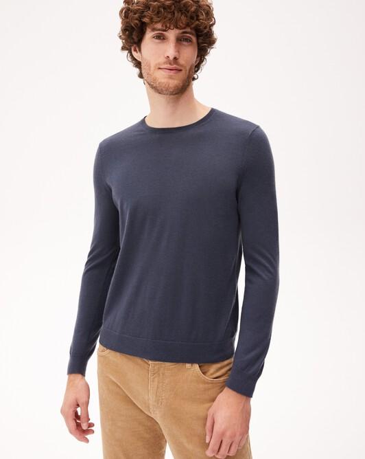 Contemporary extrafine crew neck pullover - Incense