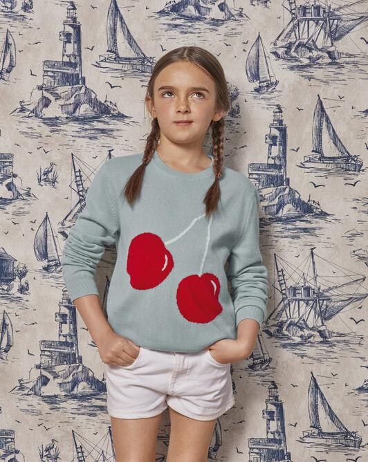 Cherrie intarsia crew-neck sweater - Jean