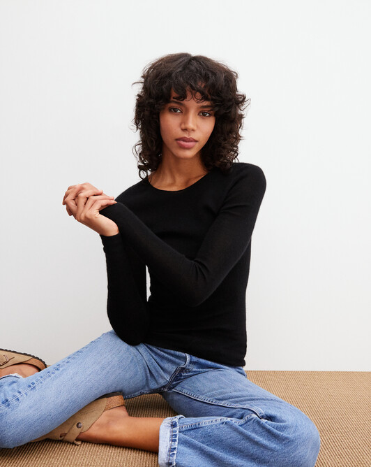 Ras de cou ultrafin sans coutures - Noir