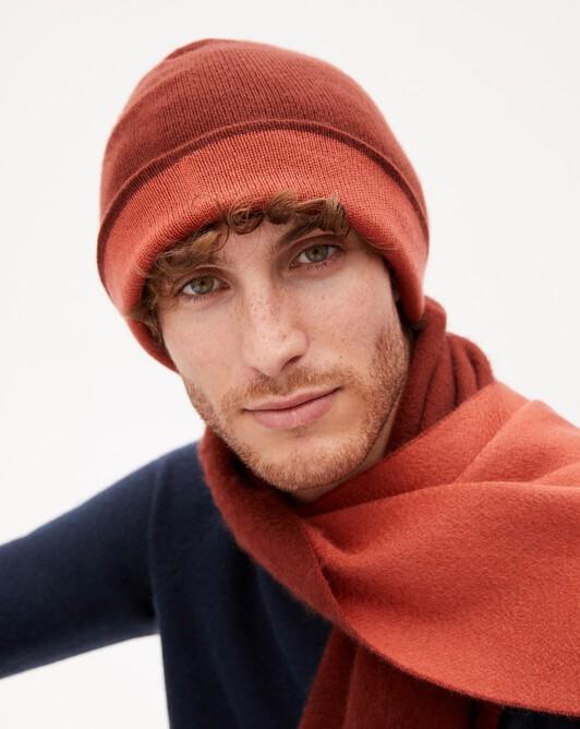 Bonnet déjaugé bicolore - Chataigne/sienne