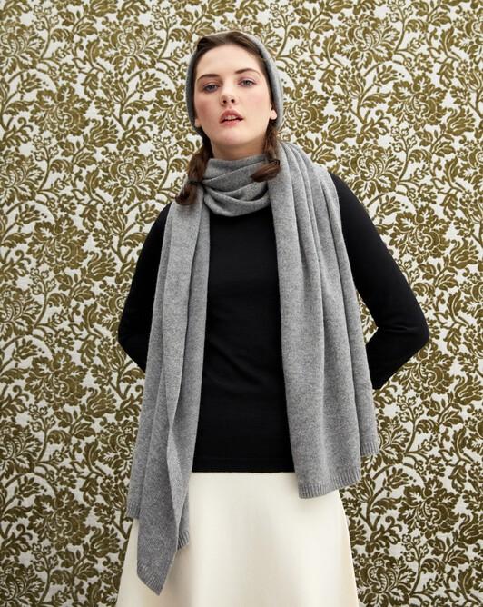 Off-gauge stole - Flannel grey