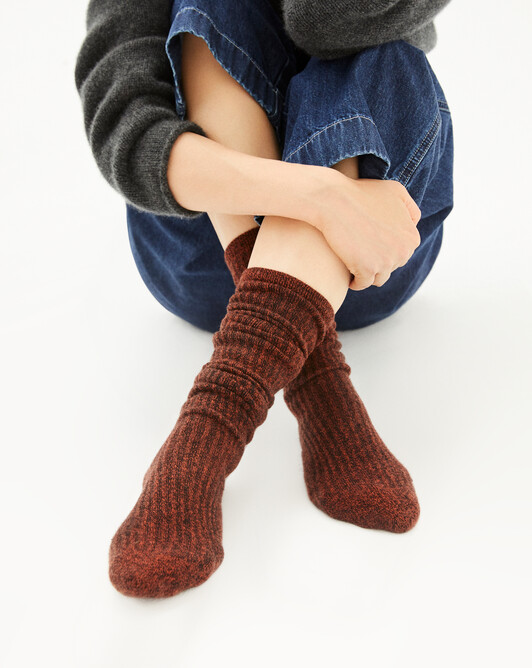 Long marl socks - Ebony/everbay