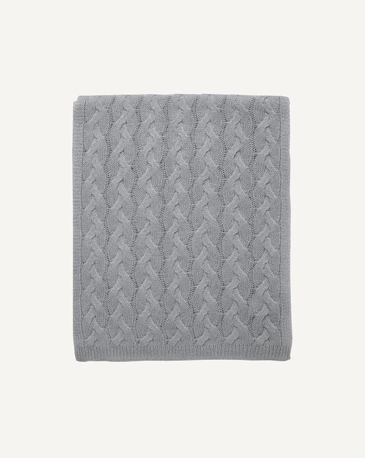 Écharpe torsades déjaugées 4 fils 180 x 40 cm - Flanelle