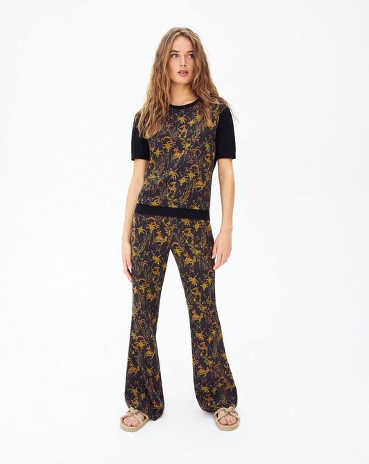 Pantalon imprimé oasis - Noir
