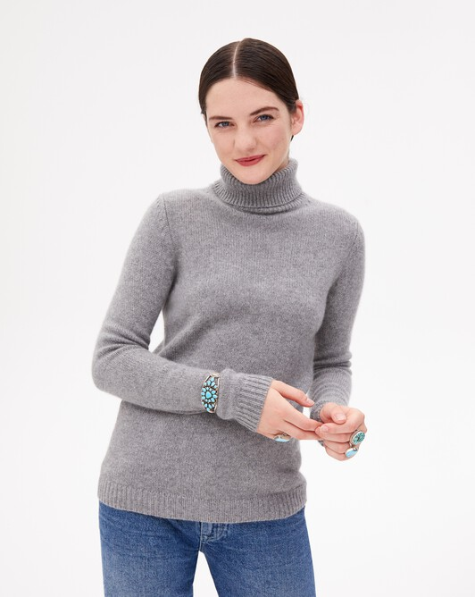 6-ply roll-neck - Flannel grey