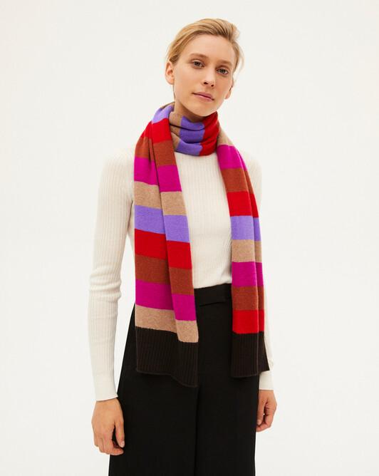 Écharpe moulinée et rayures multicolores 170 x 40 cm - Multicoloris