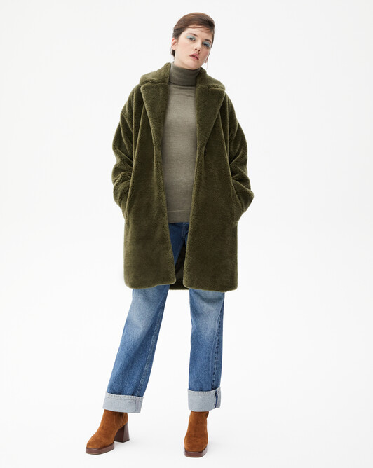 Manteau fourrure de laine - Kale