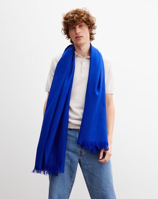 Cashmere voile stole 180 cm x 85 cm - Electric blue