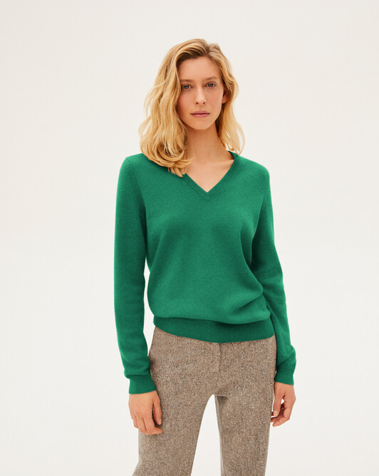 Pull V classique - Peppermint
