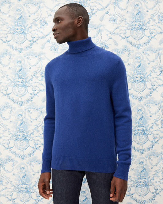 4-ply roll-neck - Royal