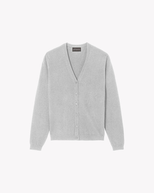 Fitted cardigan - Frost grey