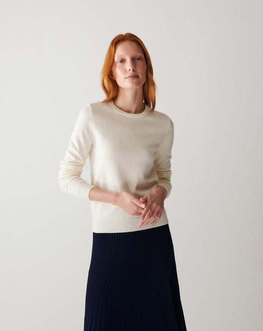 Classic crew neck pullover - Autumn white