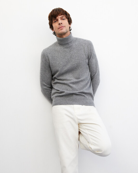 Classic roll-neck - Flannel grey