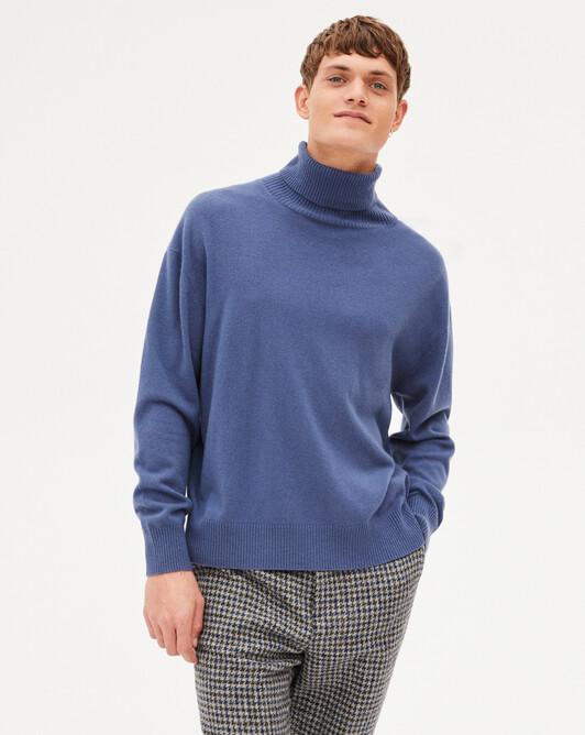 Col roulé cachemire laine Indispensable - Indigo