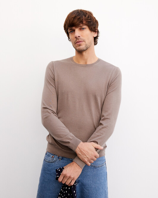 Contemporary extrafine crew neck pullover - Coriander