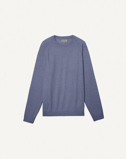 Casual raglan-sleeved sweatshirt - Denim blue