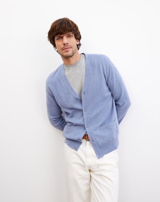 Classic cardigan - Denim blue