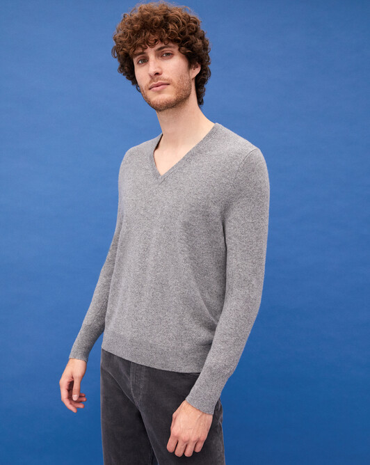 Pull V classique - Flanelle