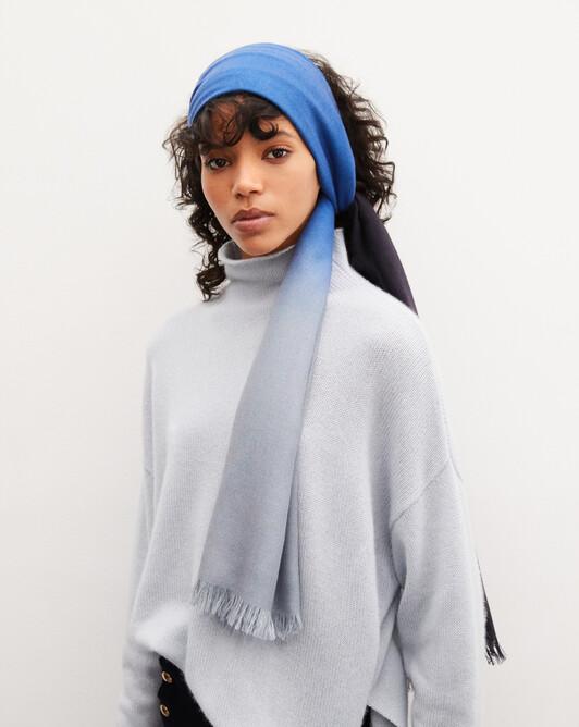 Dip dye stole 180cm x 85cm - Navy blue