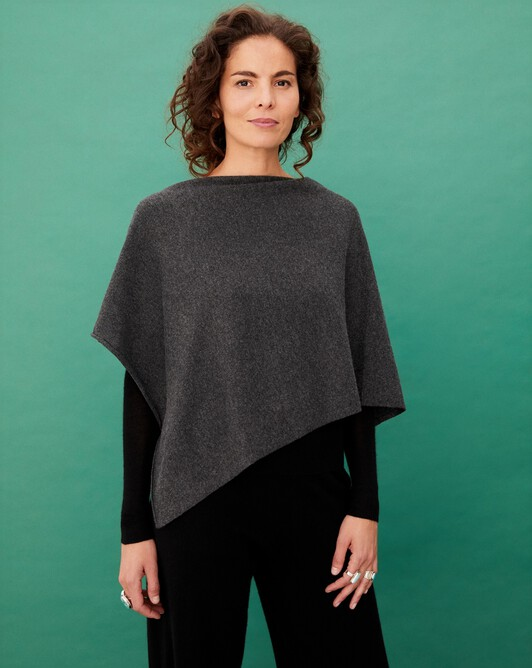 Poncho - Charcoal grey
