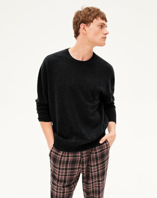 Ras de cou cachemire laine Indispensable - Noir