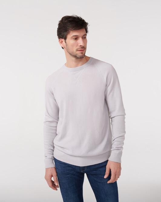 Sweat-shirt manches raglan casual - Gris craie