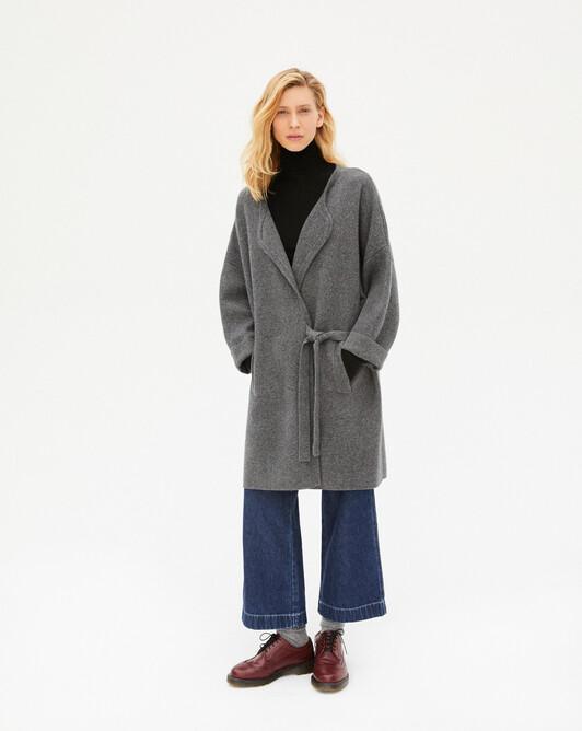 Milano cashmere loose coat - College grey