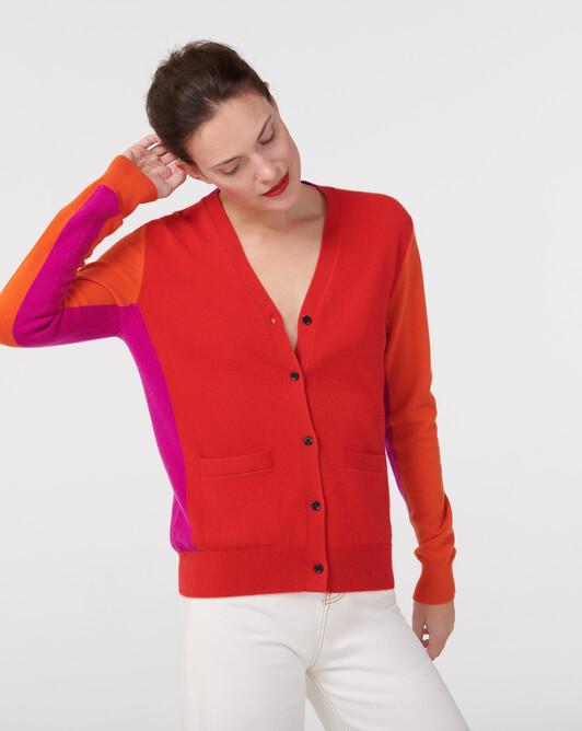 Gilet color-block - Rubis