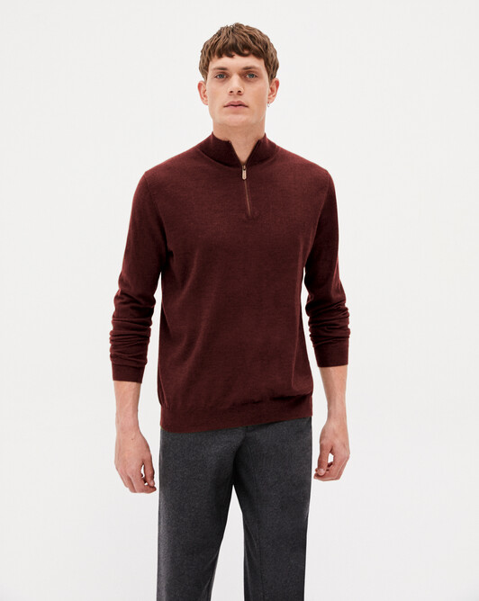 Zipped turtleneck pullover - Dahlia