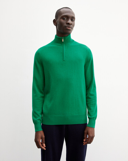 2-ply half-zip pullover - Peppermint