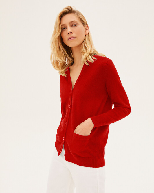 Classic cardigan - Ruby red