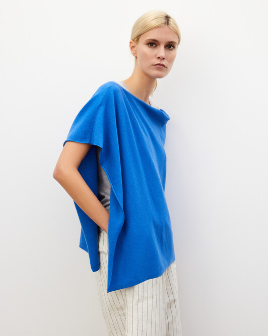Poncho - Bleu de france