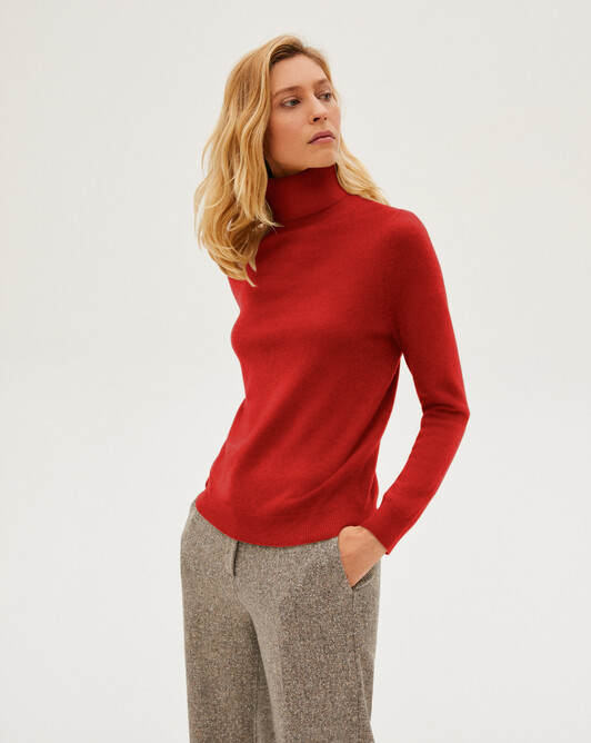 Classic roll-neck - Ruby red
