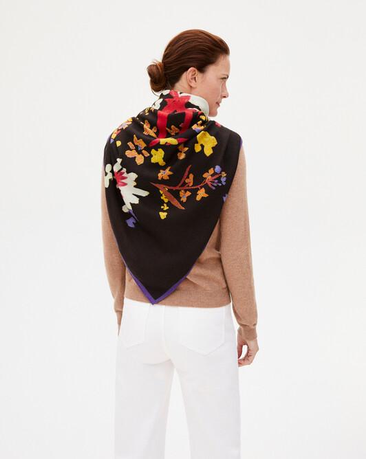 Carré mini fleurs 120 x 120 cm - Multicoloris