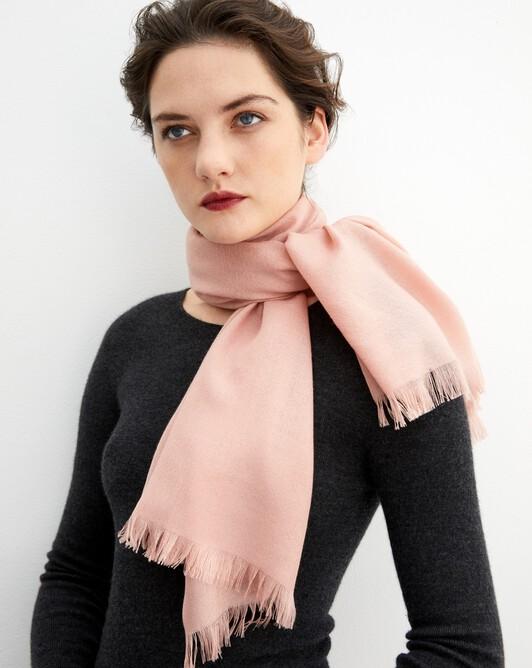 Cashmere voile scarf 150 cm x 55 cm - Blush