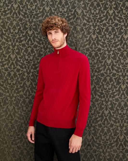 2-ply half-zip pullover - Nepal