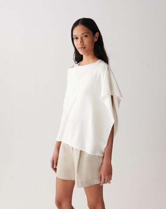 Poncho - Autumn white