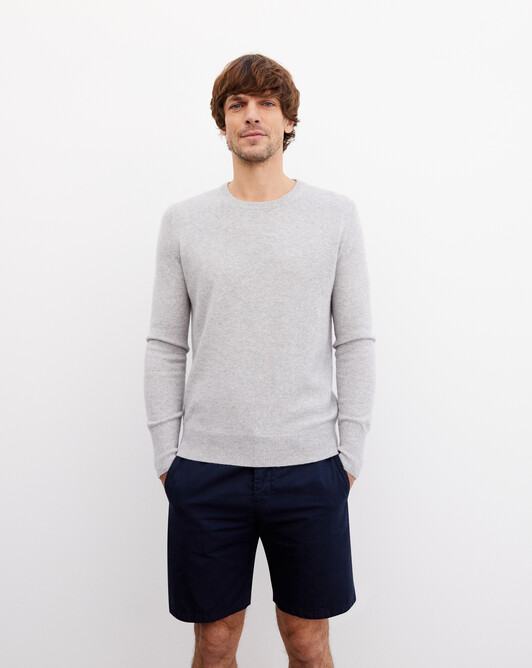 Classic crew neck pullover - Frost grey