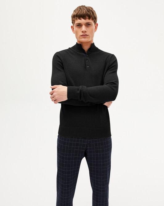 Sweat-shirt bicolore - Noir/marine
