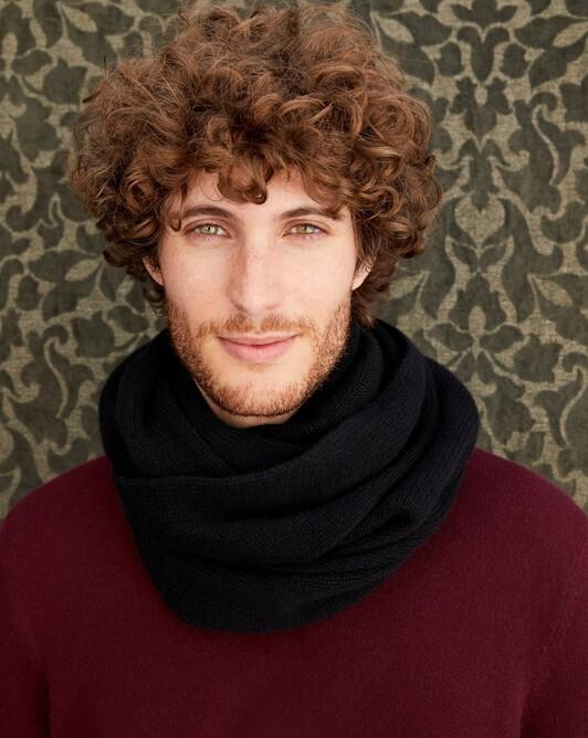 Knitted tube collar - Black