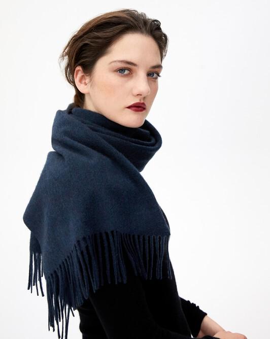 Classic scarf 170 cm x 35 cm - Graphite blue
