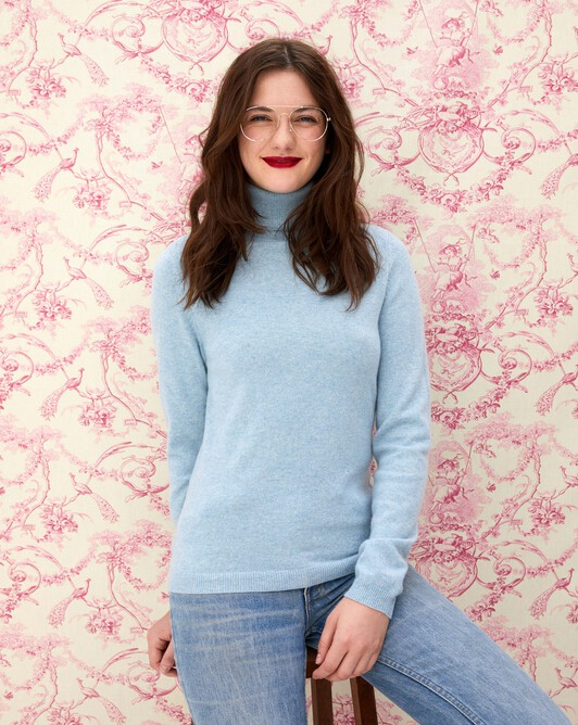Fitted roll-neck - Jean