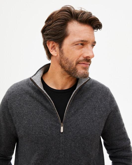 Reversible jacket - Charcoal grey/flannel grey