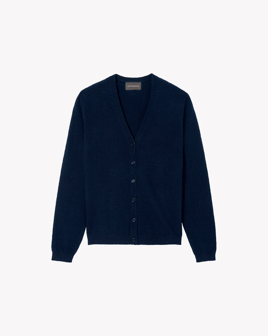 Fitted cardigan - Navy blue